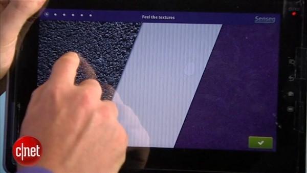 Сенсорный дисплей Senseg с тактильной отдачей