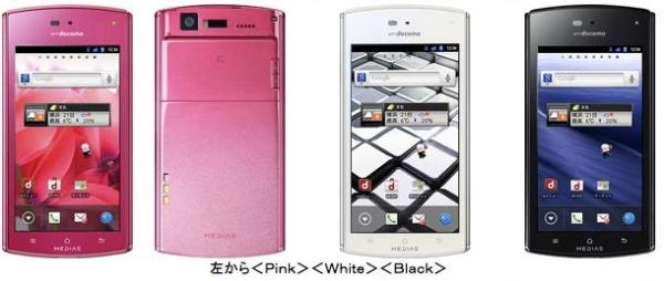 Тонкий смартфон NEC MEDIAS N-05D