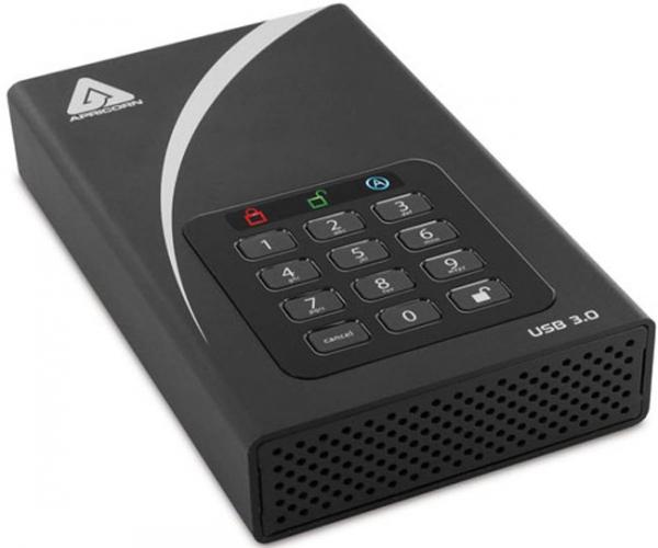 Защищенное хранилище данных Apricorn Aegis Padlock DT с интерфейсом USB 3.0