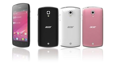 Acer анонсирует новый смартфон Liquid Glow под ОС Android 4.0