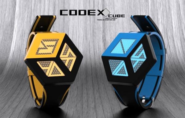 Концепт-проект: часы Codex Cube от TokyoFlash