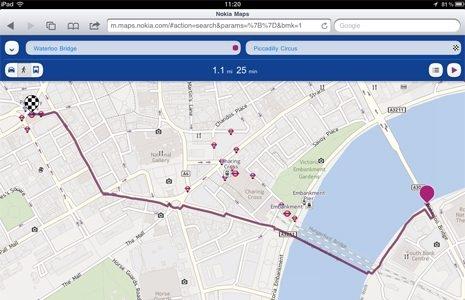 Картографический сервис Nokia доступен теперь на платформах iOS и Android