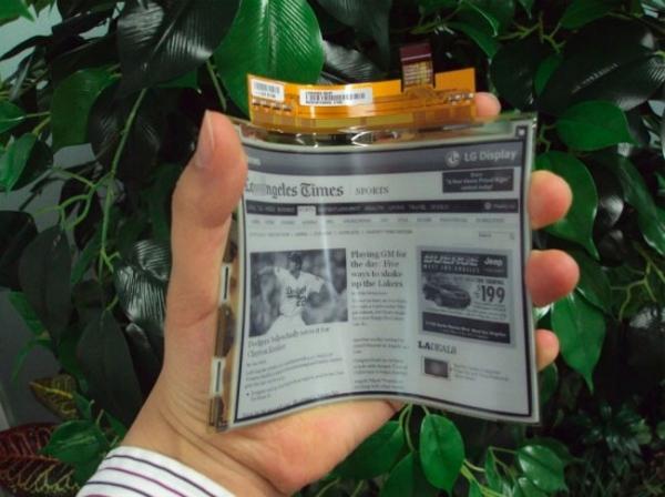 Гибкие дисплеи LG E-Paper появятся в Европе в апреле