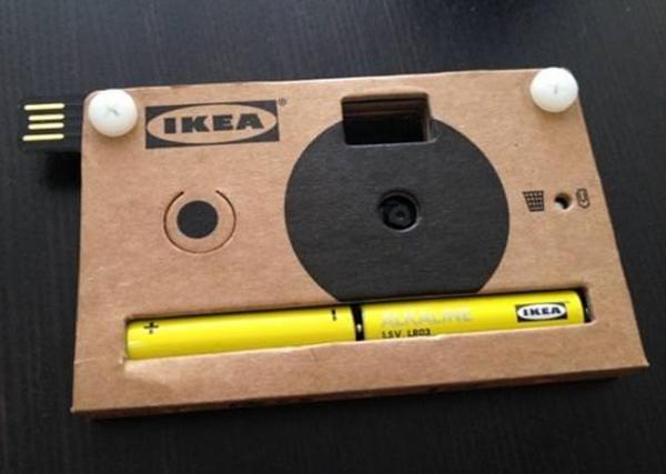 Картонная цифровая фотокамера от IKEA
