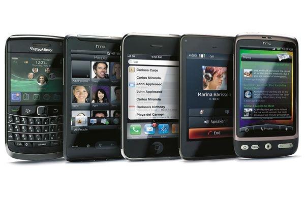 Доли рынка мобильных телефонов на первый квартал 2012 года