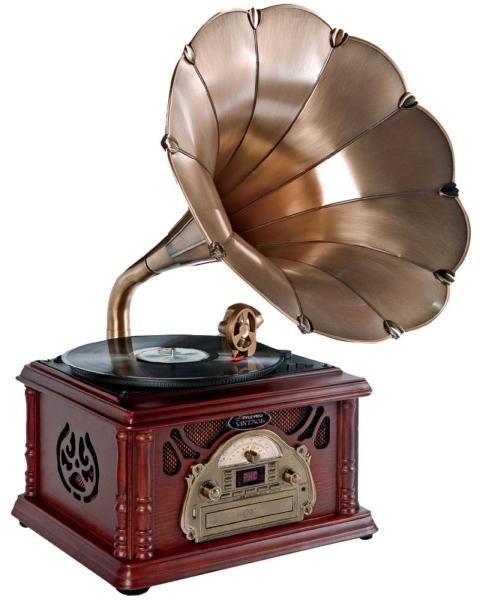 Pyle PTCDS3UIP Trumpet Horn Turntable – ретро-стиль и новые технологии