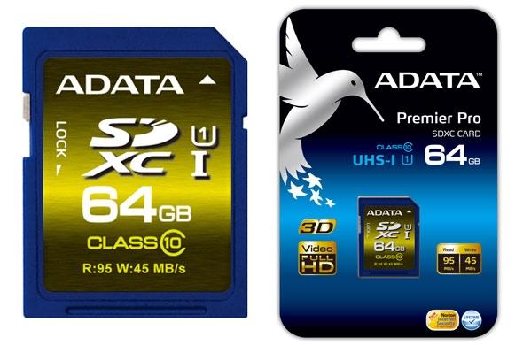 ADATA запускает серию карт памяти Premiere Pro форматов SDHC и SDXC