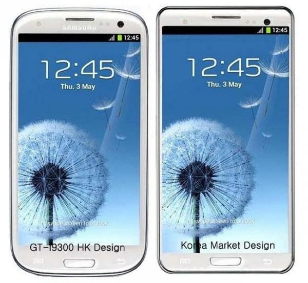 Дизайн смартфона Samsung Galaxy S3 LTE для Южной Кореи будет другим?