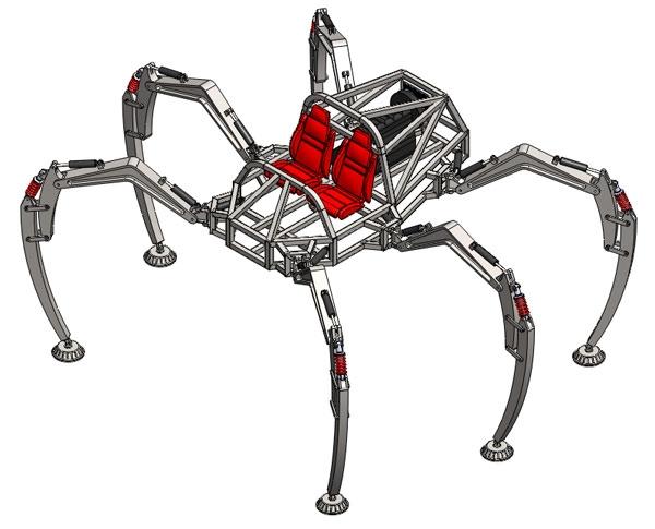Студенты создают гигантского металлического транспортного паука