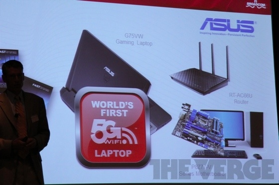 Asus выпускает первый в мире лэптоп с поддержкой Wi-Fi 802.11ac