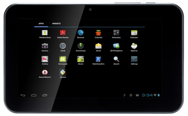 Hannspree HANNSpad – бюджетный планшет с Android 4.0