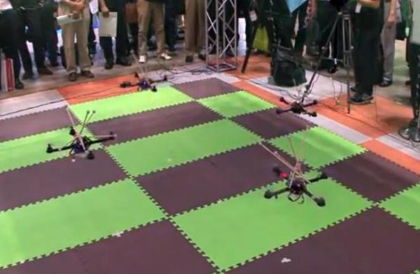 Квадрокоптеры используют распознавание образов для исключения столкновений