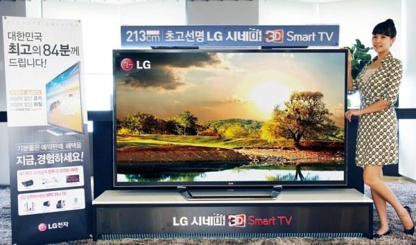 LG начинает продажи 84'' 4K HDTV ограниченными партиями