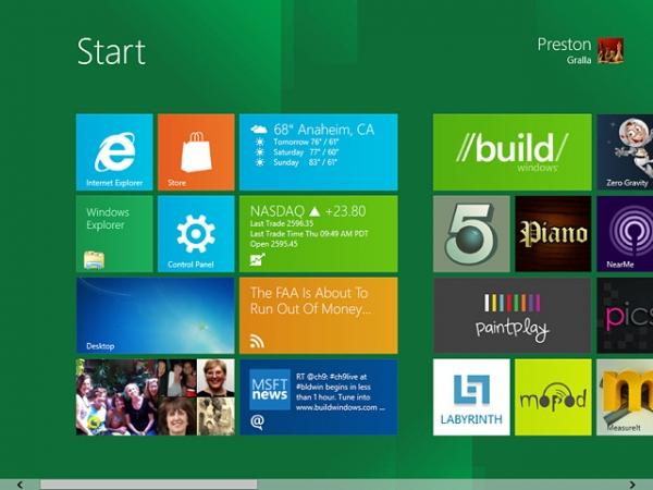 Графические усовершенствования в Windows 8