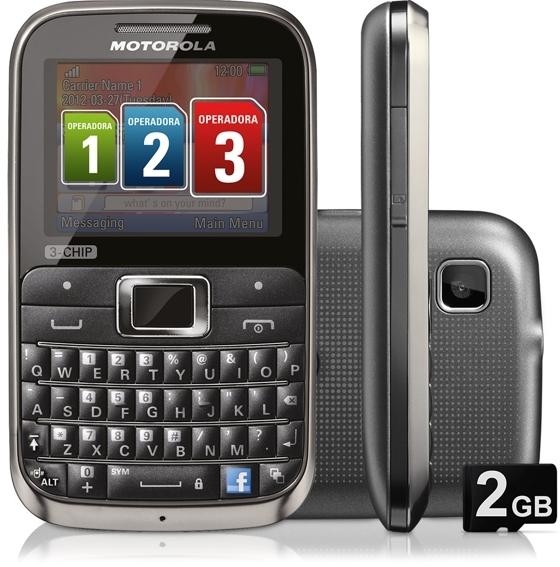 Motorola Motokey EX117 – телефон с тремя SIM-картами