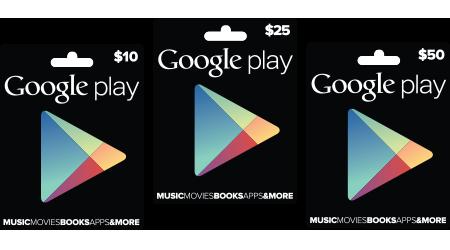 Google официально анонсирует подарочные карты для Google Play