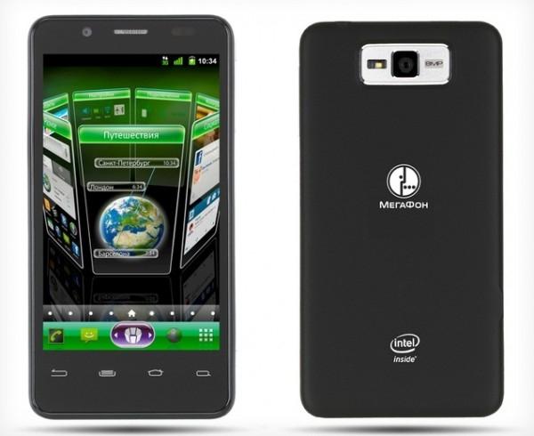 Мегафон анонсирует смартфон на процессоре Intel