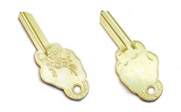 Неформальные латунные заготовки для ключей