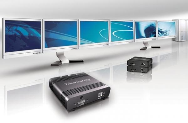 Мультидисплейный адаптер Matrox TripleHead2Go