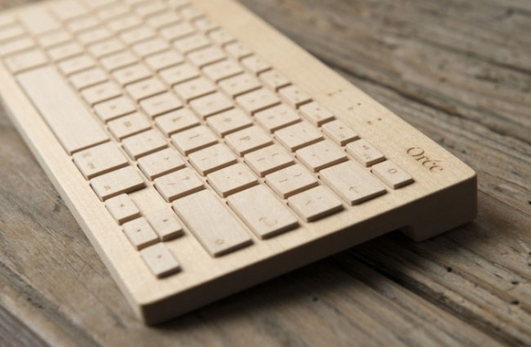 Беспроводная деревянная клавиатура Oree Wooden Keyboard