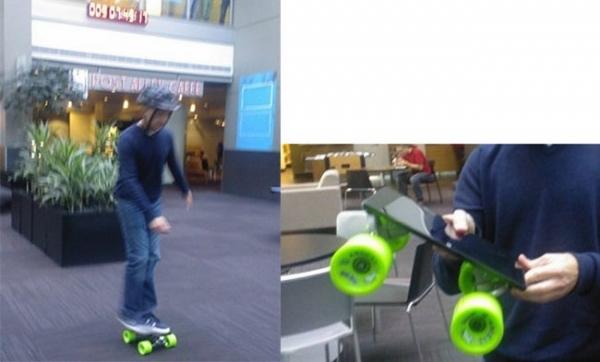 Планшет Surface в качестве скейта