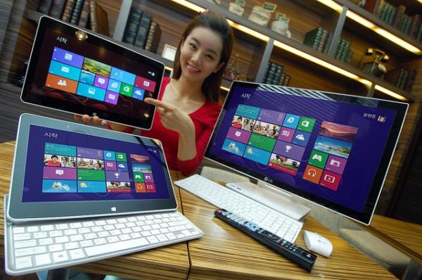 LG анонсировала гибридный планшет-слайдер и моноблок под Windows 8