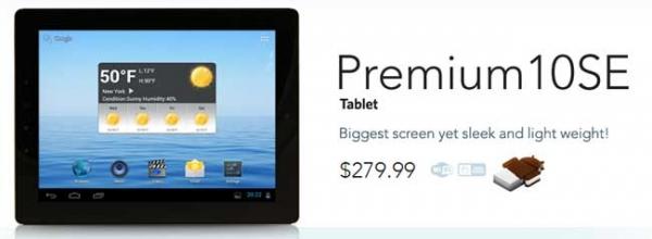Бюджетный 10-дюймовый Android-планшет E Fun Nextbook Premium 10 SE