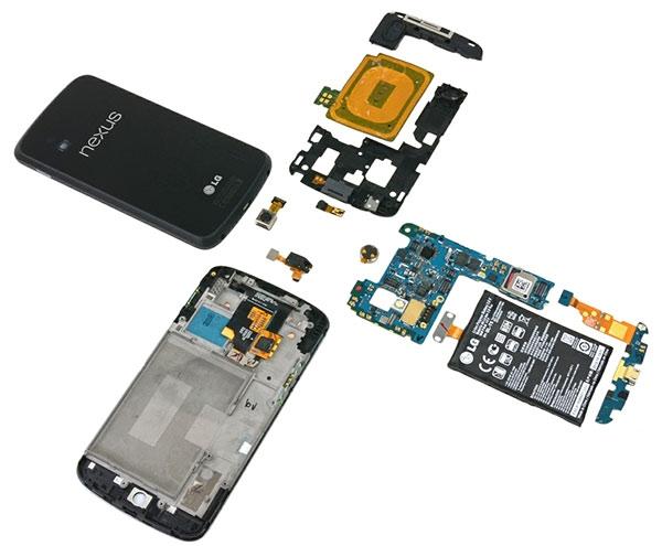iFixit разобрали Nexus 4, внезапно нашли там бездействующий чип LTE