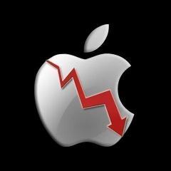 Рекордное падение акций Apple