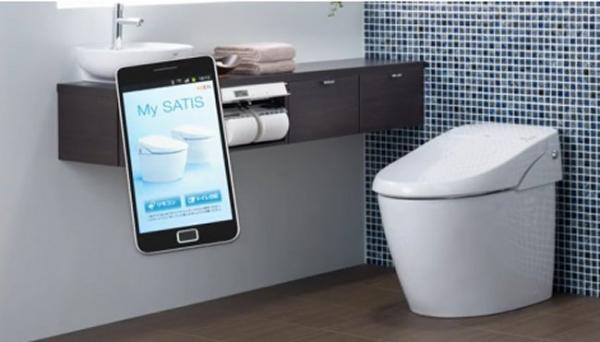 Туалет, управляемый с Android-устройств