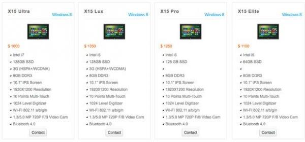 Kupa X15 – производительные планшеты с Windows 8