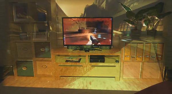 IllumiRoom: Microsoft расширит телеэкраны до размеров комнаты