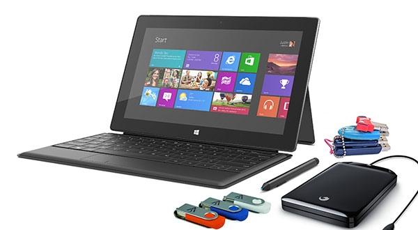 Количество доступной памяти в 64 ГБ версии Surface Pro составит всего 23 ГБ