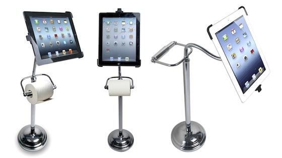 Универсальная подставка для iPad и… рулона туалетной бумаги