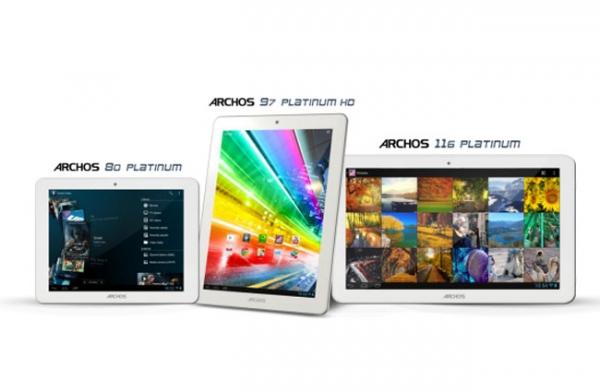 Archos Platinum – новая серия четырехъядерных планшетов