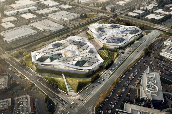 Новая штаб-квартира Nvidia – по мотивам кампуса Apple