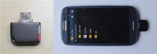 Внешний кардридер MicroSD для вашего Android-девайса