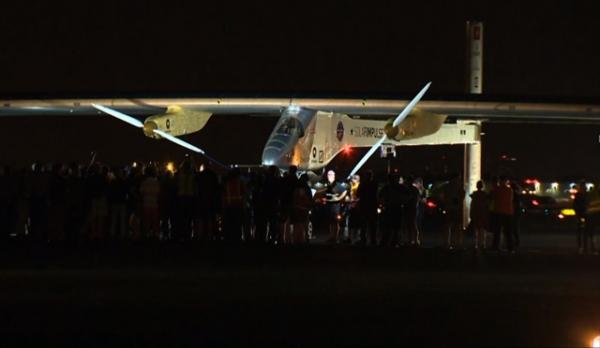 Самолет на солнечных батареях завершил свое путешествие через США