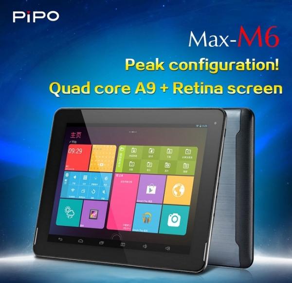 Pipo Max M6 — четырехъядерный планшет с Retina-дисплеем