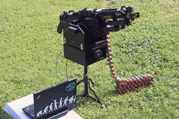Самодельный автоматический сторожевой пулемет: готовься, целься, огонь!
