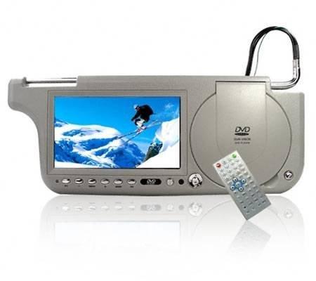 Солнцезащитный козырек для автомобиля с DVD, ТВ и радио