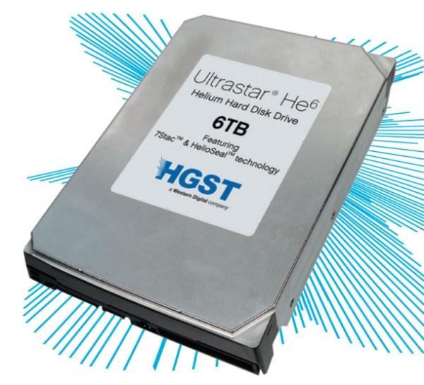 HGST представила первый 6 ТБ винчестер, заполненный гелием