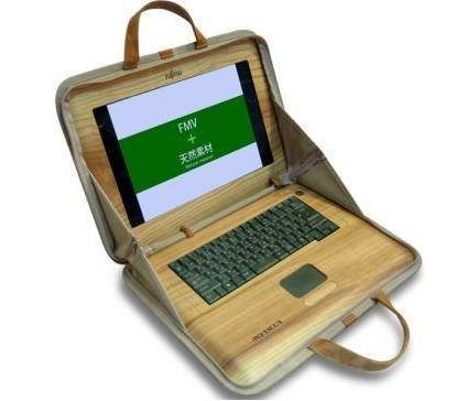Деревянные ноутбуки Fujitsu WoodShell