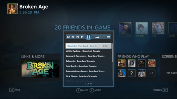 Valve Steam Music: слушай свою музыку в играх