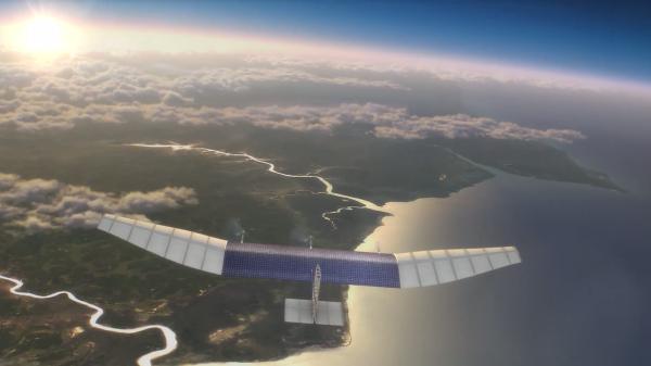 Facebook собирается раздавать интернет с БПЛА с солнечными батареями