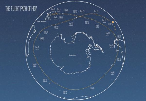 Один из воздушных шаров Google совершил кругосветное путешествие