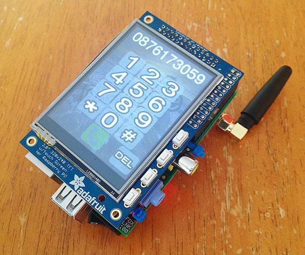Самодельный мобильный телефон на Raspberry Pi