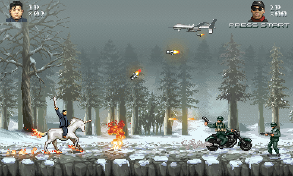 Великий Лидер Ким Чен Ын спасет мир в игре с 8-битной графикой