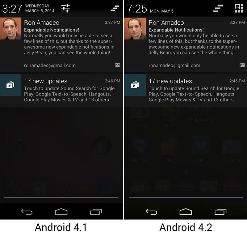 Панель Уведомления Андроид