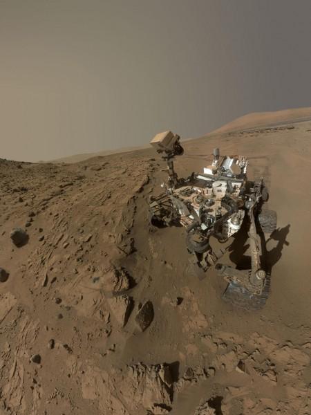 Кьюриосити отмечает 1 год на Марсе модным «селфи»
